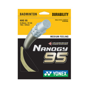 Yonex Nanogy 95 - A string for higher tensions and increased repulsion.