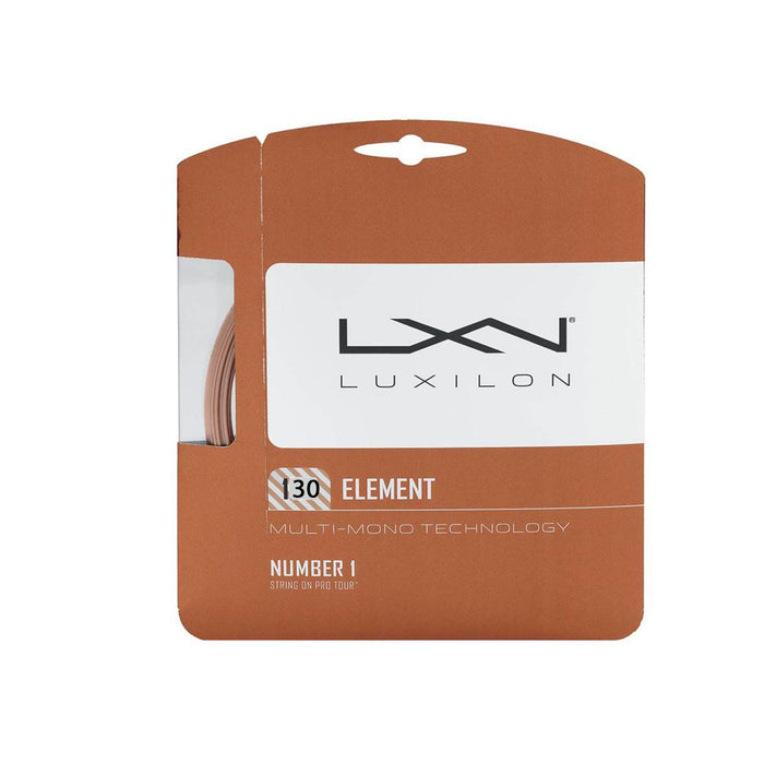 Luxilon element 130 softer polyester tennis string ontario canada