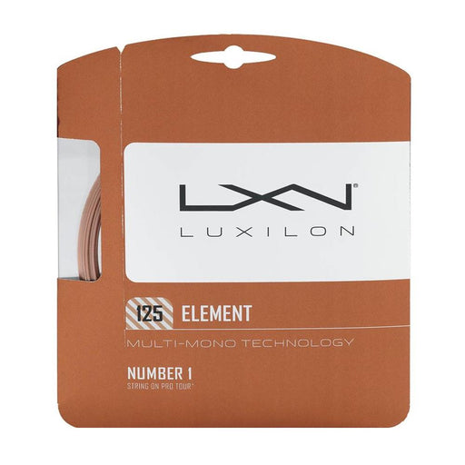 Luxilon element polyester tenis string softer better tension maintence 125