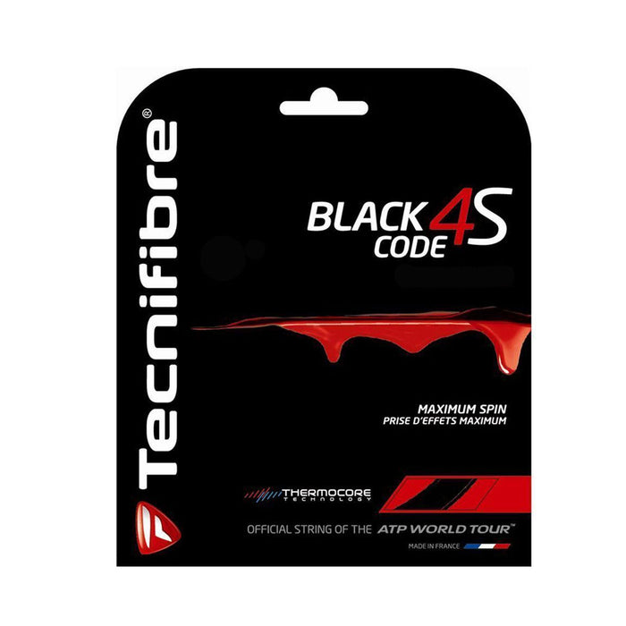 tecnifibre black code 4s 17g gauge 1.25mm square shaped copoly poly low power high spin