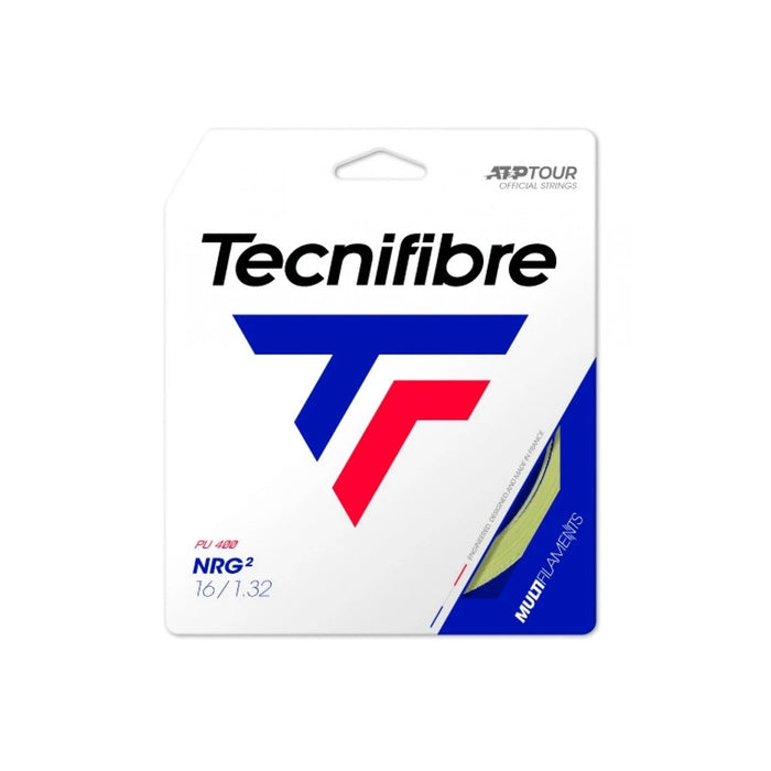 Tecnifibre nrg2 16g soft mutlifilament tennis string gut like performance. Excellent for tennis elbow and shoulder pain sufferers.