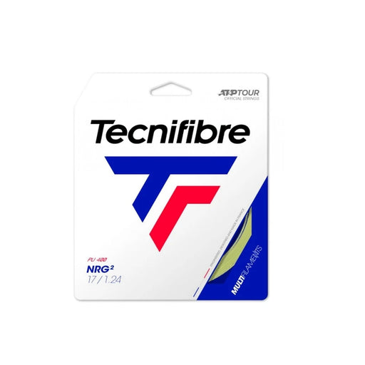 Tecnifibre nrg2 17g tennis racquet string soft comfort gut like good for tennis elbow or shoulder pain