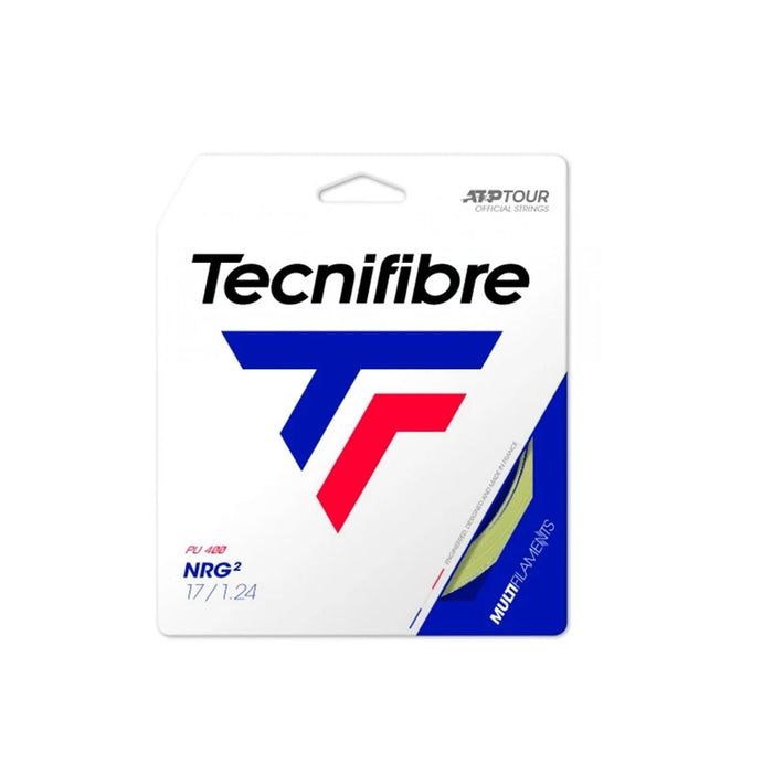 Tecnifibre NRG2 17g multifilament soft comfort gut like tennis string elbow or shoulder pain
