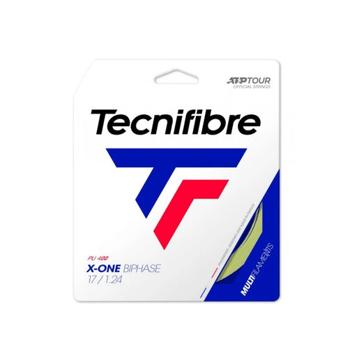 TEcnifibre x one biphase 17g tennis string playability in a multifilament tennis string. Awesome power. Ontario Canada