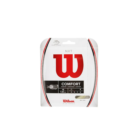 Wilson NXT 16 classic multifilament stiffer for more power string cordage tennis elbow shoulder wrist pain