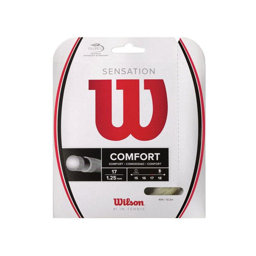 Wilson Sensation 17 gauge half set for hybrid stringing tennis multifilament soft for tennis elbow and shoulder pain