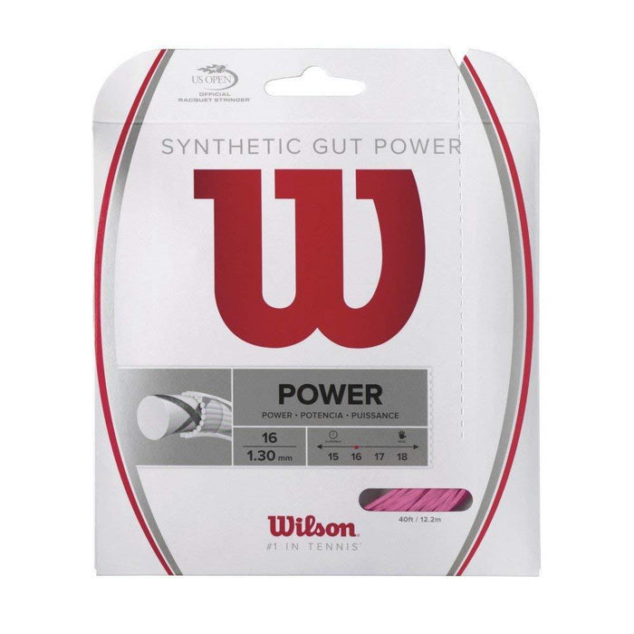 Wilson Synthetic Gut Power 16 Pink string for tennis or squash racquets