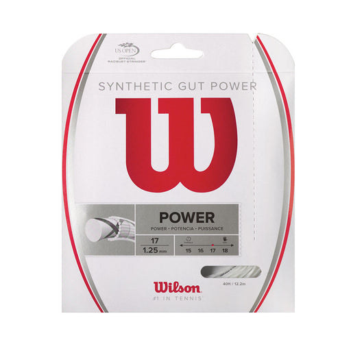 Wilson Syn Gut Power 17 white string for tennis or squash 17g gauge