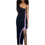 Lanette Asymmetrical Slit Dress