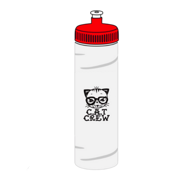 CAT CREW WATER BOTTLE (Clear)