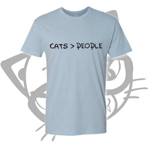 CATS > PEOPLE T-SHIRT (Blue)