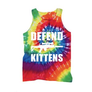DEFEND KITTENS TANK TOP (Tie Dye)