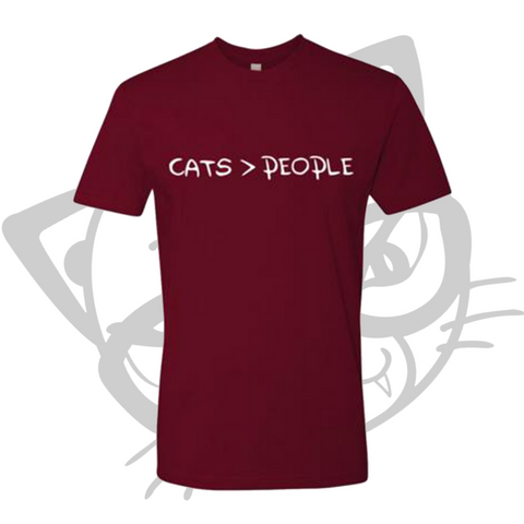 CATS > PEOPLE T-SHIRT (Maroon)