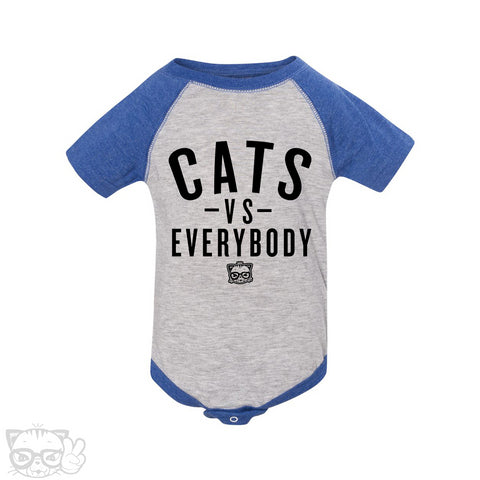 CATS VS EVERYBODY BABY ONESIE
