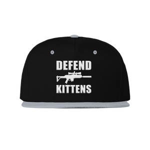 Defend Kittens Snapback-Grey/black