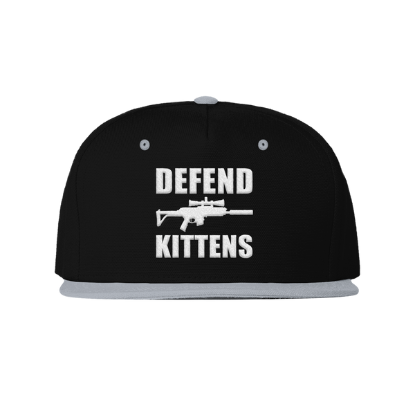 DEFEND KITTENS SNAPBACK HAT (Grey/black)