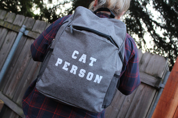 CAT PERSON Backpack (Heather Grey)