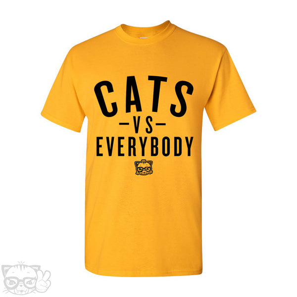 CATS VS EVERYBODY T-SHIRT (Yellow)