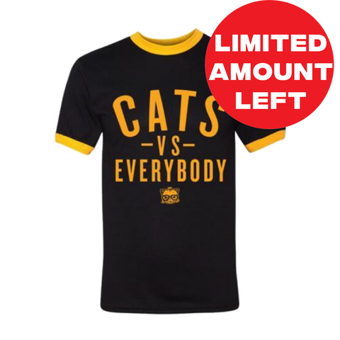 CATS VS EVERYBODY Ringer T-SHIRT