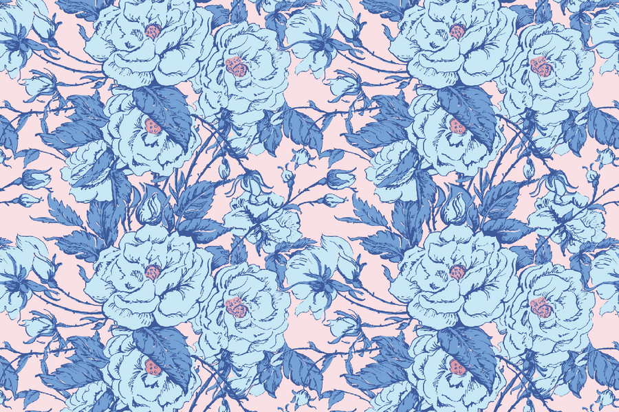 Chantilly Maximalist Chintz - Pink & Blue