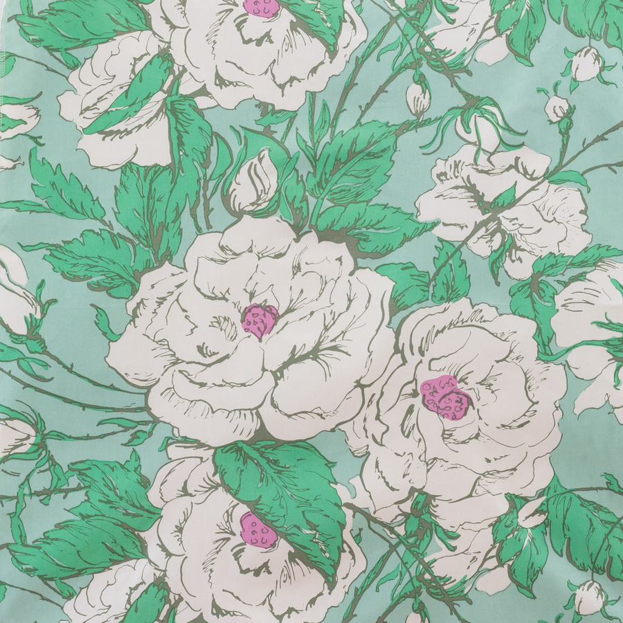 Chantilly Maximalist Chintz - White & Green