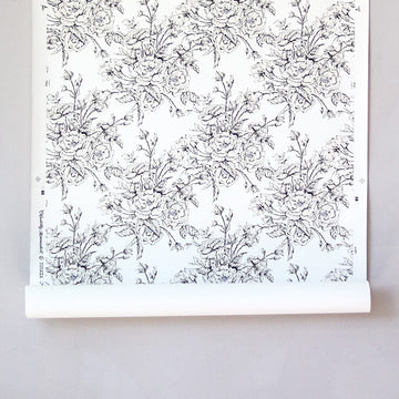 Chantilly Minimalist Wallpaper - Bettie White and Colette Currant