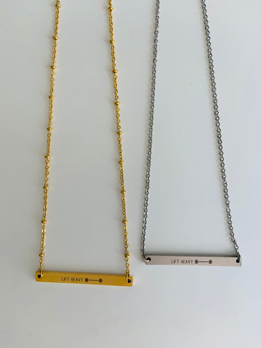 Lift Heavy Necklace