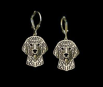 Hollow Labradoodle Drop Earrings
