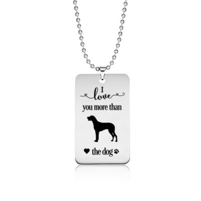 Stainless Steel Great Dane Necklace Tag