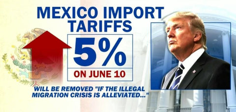 President Donald Trump announced that he would be imposing a 5% tariff on Mexico.