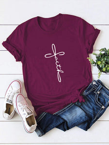 Faith Cross Print Tee