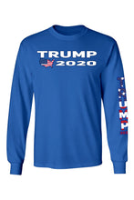 Load image into Gallery viewer, Unisex Trump USA Flag Long Sleeve Tshirt