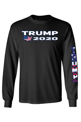 Unisex Trump USA Flag Long Sleeve Tshirt