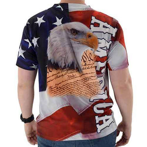 America and Eagle Head Sublimation Mens Tee - The Flag Shirt