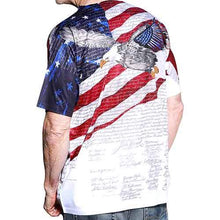 Load image into Gallery viewer, Constitution with Soaring Eagle Mens USA Sublimation Tee - The Flag Shirt