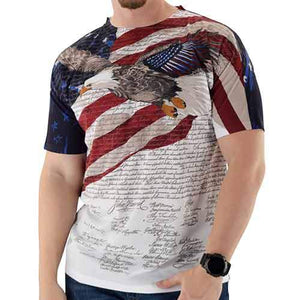 Constitution with Soaring Eagle Mens USA Sublimation Tee - The Flag Shirt
