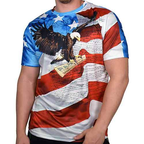 We The People Crewneck Mens T-Shirt - The Flag Shirt