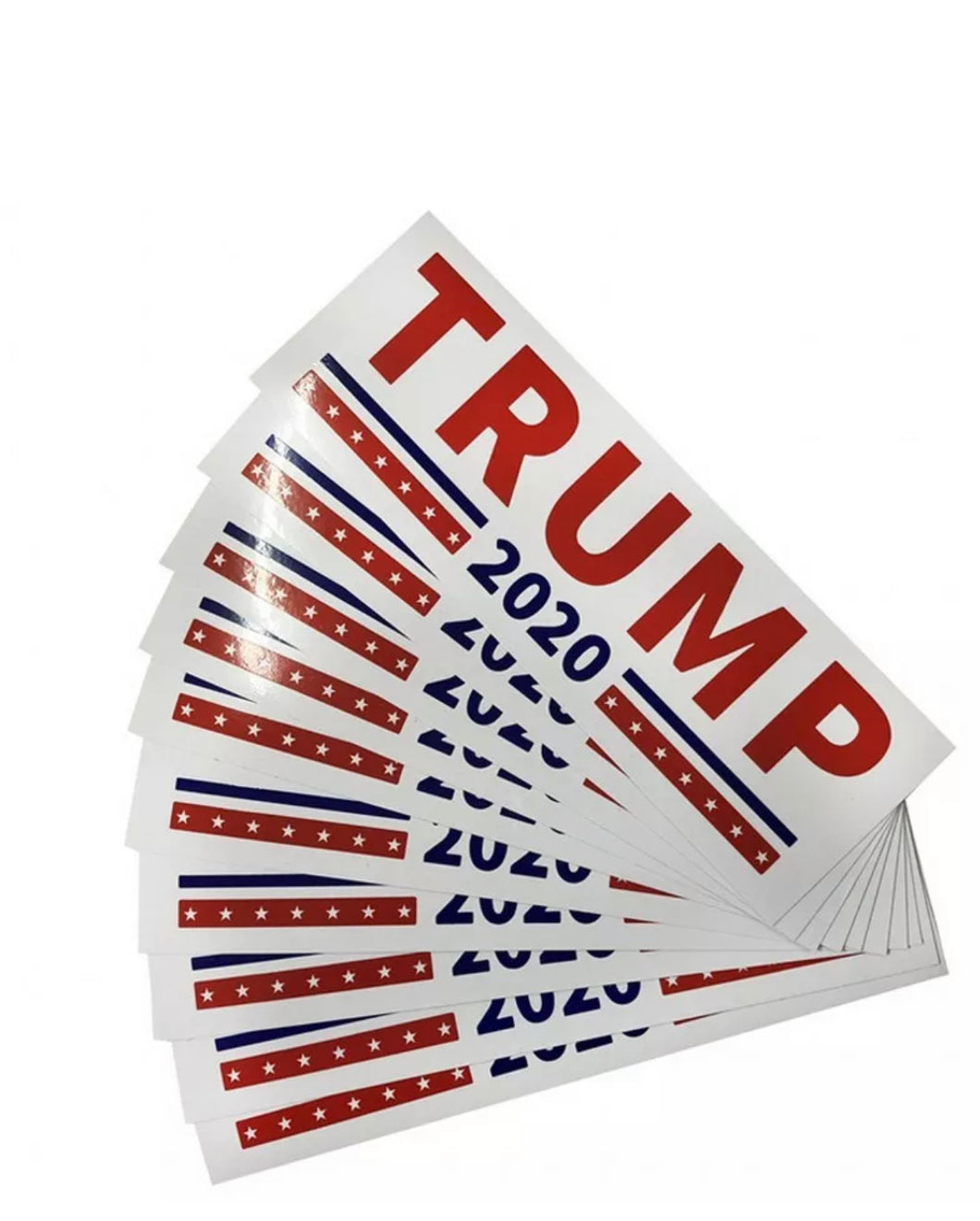 Trump 2020 Bumper Stickers 100 Pack (Free Shipping)
