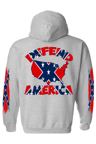 Rebel Flag Zip-Up Hoodie