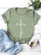 Load image into Gallery viewer, Faith Cross Print Tee