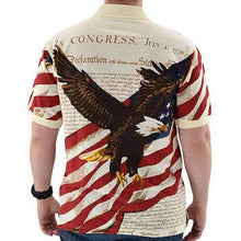 Load image into Gallery viewer, American Flag Shirt Eagle Soaring