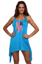 Load image into Gallery viewer, Distressed US Flag Swimwear Cover-up
