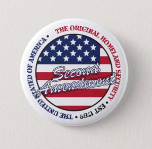 2nd Amendment White Button