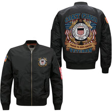 Load image into Gallery viewer, Coast Guard Veterans Flight Jacket