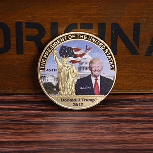 Trump Coin w/Gold Statue of Liberty