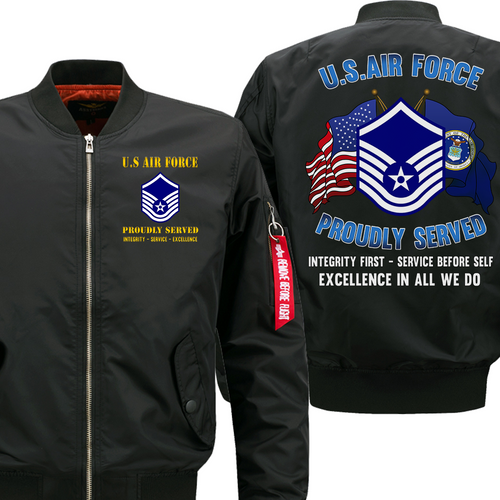 US Air Force E-7 Master Sergeant MSgt Veteran Flight Bomber Jacket