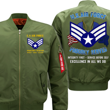 Load image into Gallery viewer, US Air Force E-4 Buck Sergeant Veteran Flight Bomber Jacket