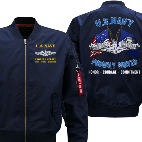 US Navy Submarine Veteran Flight Bomber Jacket