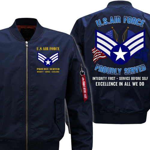 US Air Force E-4 Buck Sergeant Veteran Flight Bomber Jacket