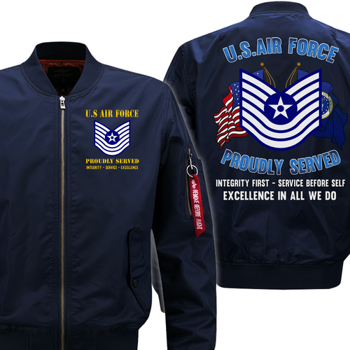 US Air Force E-7 Old Style Veteran Flight Bomber Jacket